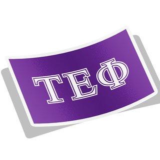 Tau Epsilon Phi Flag Decal Sticker