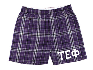 Tau Epsilon Phi Flannel Boxer Shorts