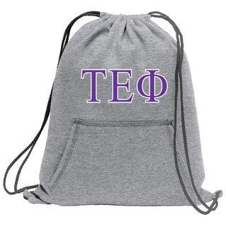 Tau Epsilon Phi Fleece Sweatshirt Cinch Pack