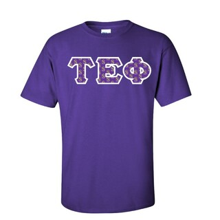 Tau Epsilon Phi Fraternity Crest - Shield Twill Letter Tee