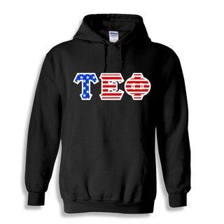 Tau Epsilon Phi Greek Letter American Flag Hoodie