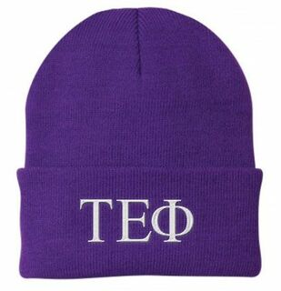 Tau Epsilon Phi Greek Letter Knit Cap