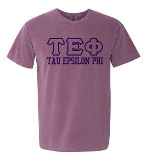 Tau Epsilon Phi Greek Outline Comfort Colors Heavyweight T-Shirt