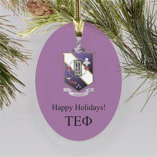 Tau Epsilon Phi Holiday Color Crest - Shield Ornament