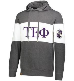 Tau Epsilon Phi Ivy League Hoodie W Crest On Left Sleeve