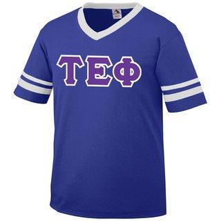 DISCOUNT-Tau Epsilon Phi Jersey With Greek Applique Letters