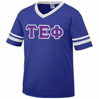 DISCOUNT-Tau Epsilon Phi Jersey With Greek Applique Letters