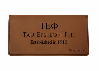 Tau Epsilon Phi Leatherette Checkbook Cover