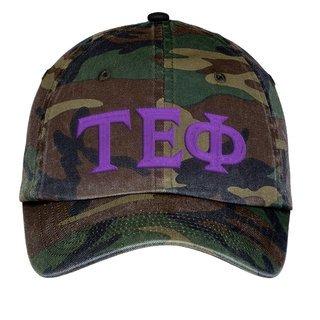 Tau Epsilon Phi Lettered Camouflage Hat