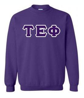 Tau Epsilon Phi Sewn Lettered Crewneck Sweatshirt