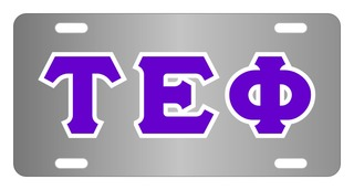 Tau Epsilon Phi Lettered License Cover