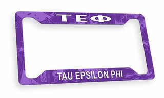 Tau Epsilon Phi Custom License Plate Frame
