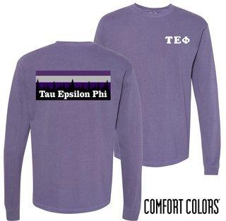 Tau Epsilon Phi Outdoor Long Sleeve T-shirt - Comfort Colors