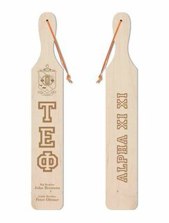 Tau Epsilon Phi Old School Wood Greek Paddle