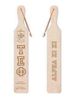 Tau Epsilon Phi Old School Wood Greek Paddle
