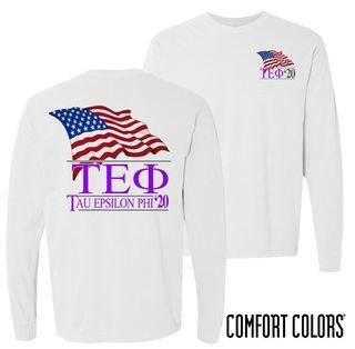 Tau Epsilon Phi Patriot Long Sleeve T-shirt - Comfort Colors