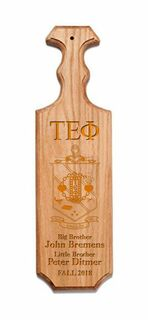 Tau Epsilon Phi Traditional Greek Paddle