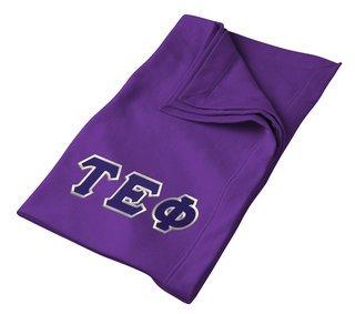DISCOUNT-Tau Epsilon Phi Twill Sweatshirt Blanket