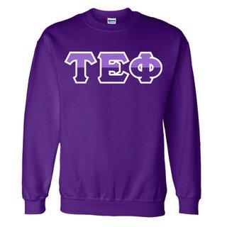 Tau Epsilon Phi Two Tone Greek Lettered Crewneck Sweatshirt