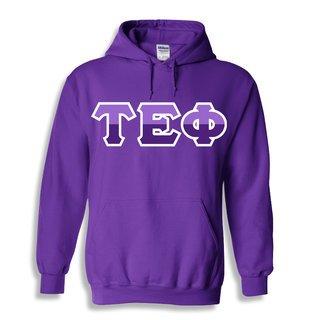 Tau Epsilon Phi Two Tone Greek Lettered Hooded Sweatshirt