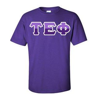 Tau Epsilon Phi Two Tone Greek Lettered T-Shirt