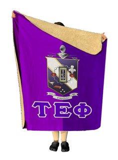 Tau Epsilon Phi Two Tone Two Tone Sherpa Lap Blanket