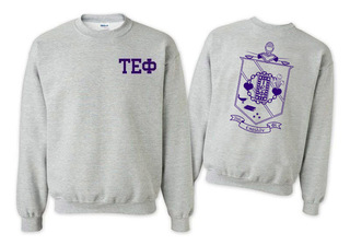 Tau Epsilon Phi World Famous Crest - Shield Printed Crewneck Sweatshirt- $25!