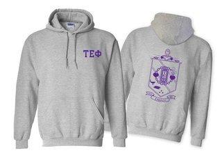 Tau Epsilon Phi World Famous Crest - Shield Printed Hooded Sweatshirt- $35!