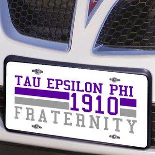 Tau Epsilon Phi Year License Plate Cover