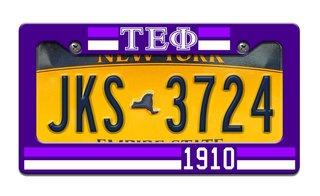 Tau Epsilon Phi Year License Plate Frame