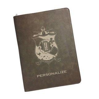 Tau Epsilon Phi Zipper Leatherette Portfolio with Notepad