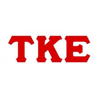 Tau Kappa Epsilon Big Greek Letter Window Sticker Decal