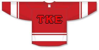 DISCOUNT-Tau Kappa Epsilon Breakaway Lettered Hockey Jersey