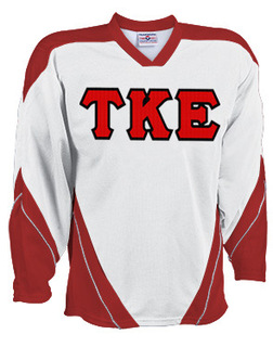 DISCOUNT-Tau Kappa Epsilon Breakaway Lettered Hockey Jersey