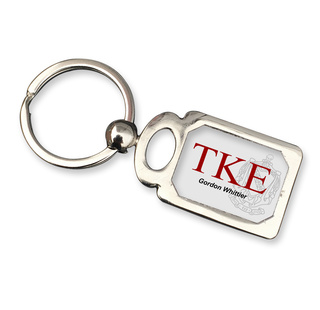 Tau Kappa Epsilon Chrome Crest Key Chain