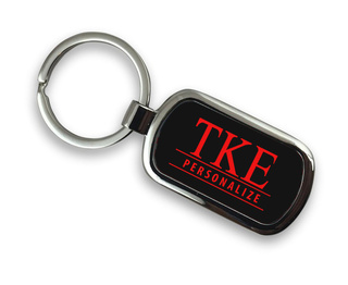 Tau Kappa Epsilon Chrome Custom Keychain