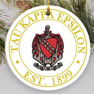 Tau Kappa Epsilon Circle Crest Round Ornaments