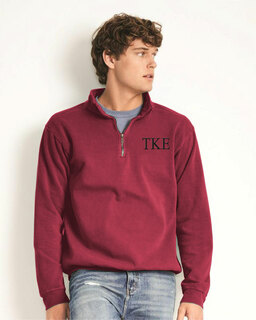 Tau Kappa Epsilon Comfort Colors Garment-Dyed Quarter Zip Sweatshirt