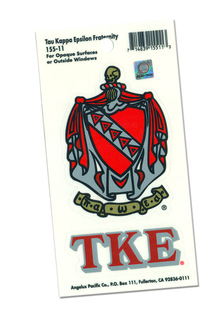 Tau Kappa Epsilon Crest - Shield Decals