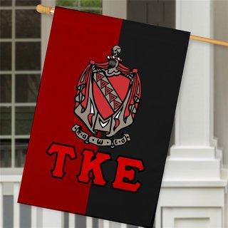 Tau Kappa Epsilon Crest House Flag