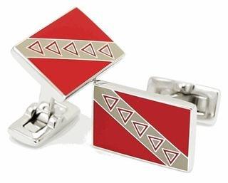 Tau Kappa Epsilon Flag Cufflinks