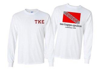 Tau Kappa Epsilon Flag Long Sleeve T-shirt