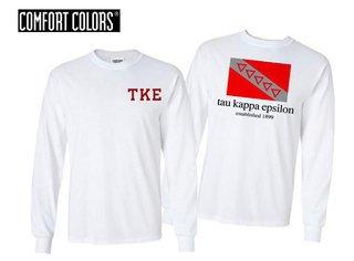 Tau Kappa Epsilon Flag Long Sleeve T-shirt - Comfort Colors