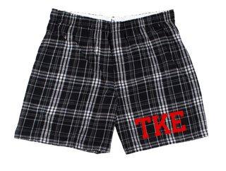 Tau Kappa Epsilon Flannel Boxer Shorts