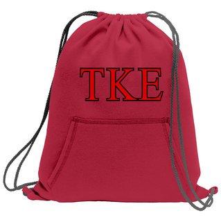 Tau Kappa Epsilon Fleece Sweatshirt Cinch Pack