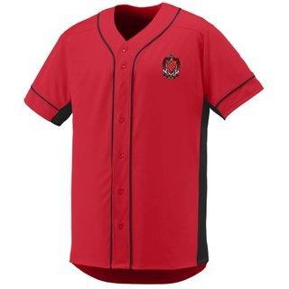 DISCOUNT-Tau Kappa Epsilon Fraternity Crest - Shield Slugger Baseball Jersey