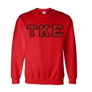 Tau Kappa Epsilon Fraternity Crest - Shield Twill Letter Crewneck Sweatshirt