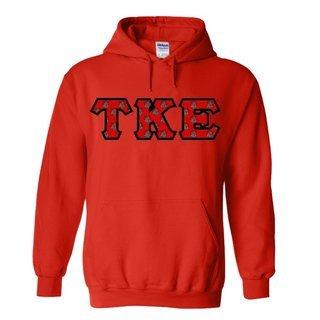 Tau Kappa Epsilon Fraternity Crest - Shield Twill Letter Hooded Sweatshirt