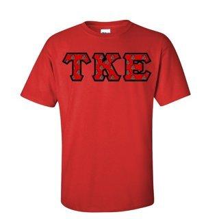 Tau Kappa Epsilon Fraternity Crest - Shield Twill Letter Tee