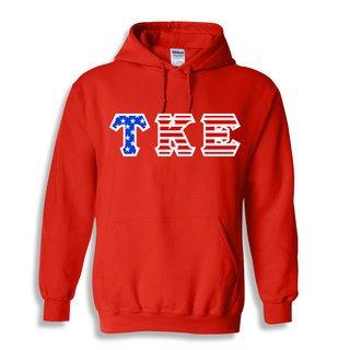 DISCOUNT-Tau Kappa Epsilon Greek Letter American Flag Hoodie